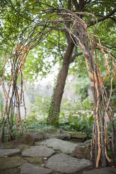 how to make an arbor out of branches