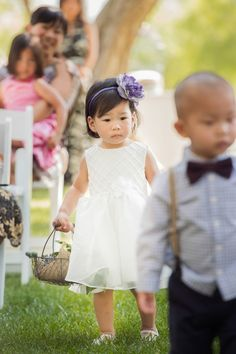 ring bearer and flower girl ~ so cute!!!