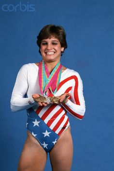 Mary Lou Retton would go on to win a total of five Olympic medals at Los Angeles that Summer, the most medals won by any athlete competing at the '84 Summer Olympics. #historic #greatness