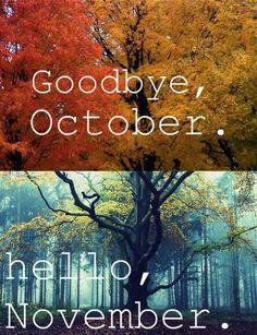 ❥ October > November