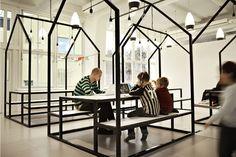 rosan-bosch-staten-island-kids hotel interiors, sweden, school organization, stockholm, schools, picnic tables, design interiors, the village, small houses