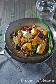 Red Rice with Roasted Squash, Fennel & Beets from @Jean Loang | Lemons and Anchovies