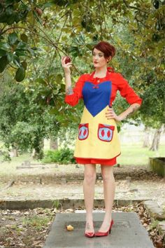 Snow white inspired  cosplay costume apron by HauteMessThreads,