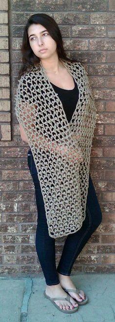 Hand Crocheted Shawl www.cefiber.com