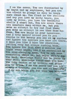 I am the ocean.