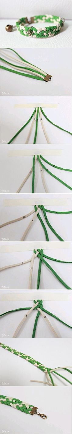 DIY Nice Braided Bracelet.  Good gift idea!