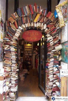 Book shop in Lyon, France