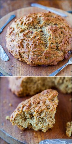 30 Minute Honey Whole Wheat Skillet Bread - No-knead, no-fuss fast & easy bread that's ready in 30 minutes! Lightly sweetened with honey & the whole wheat keeps it healthier!