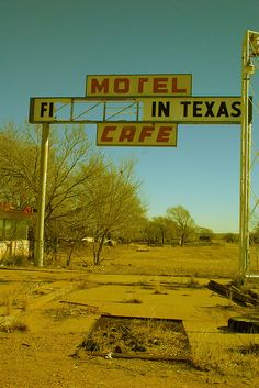 "Rt.66 First/Last Motel in Texas . Sign use to read ""First in Texas"" and on the other side ""The last in Texas"" Glen Rio ,Texas. ( I went for a old 70's film look for the colors of this picture) .Born in 1903 when the PCI Railroad came through (two years earlier), Glen Rio, Texas, often called Glenrio, Texas, and Glen Rio, N.M. was one town that bordered the state line and was the subject of a long battle between both states for tax rights. A combo of English (Glen--valley) and Spanish (Ri..."