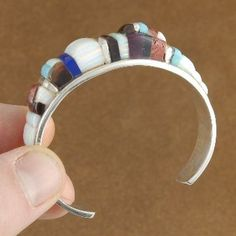 Inlaid Opal & Turquoise Sterling Silver Bracelet