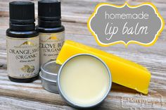 DIY: all-natural clove and orange lip balm