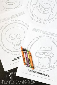 Free Halloween coloring page for kids - great craft activity, or hand them out in a classroom instead of treats