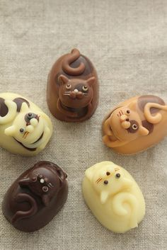 The purrfect treat for the cat lover in your live: chocolate cats. @Stefanie Sobottka