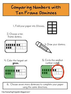 Here's a set of ten frame dominoes.
