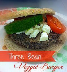 Three Bean Veggie Burgers on MyRecipeMagic.com.