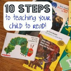 10 Steps to Teaching Your Child to Read - I Can Teach My Child!