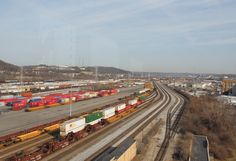 See the trains and tracks from Tower A atop Union Terminal