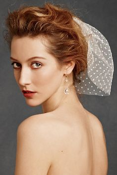 Veil issues! :  wedding bird cage birdcage halter veil Short Veil