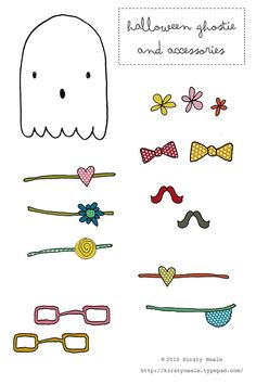 FREE printable Halloween ghostie templates for the cutest DIY ghost garland