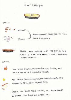 raw apple pie