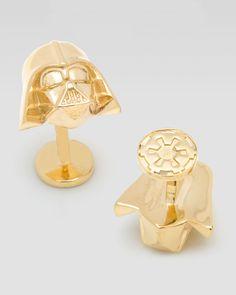 Star Wars Darth Vader 14k Gold Star Wars Cuff Links - Neiman Marcus