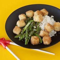 Crispy Tofu with Green Veggie Stir-fry