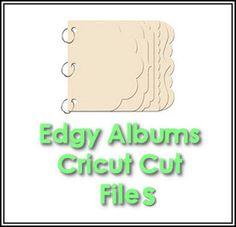 Cricut Inspired Scrapbook Layouts: Edgy Albums Cricut CUT files