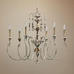 "Quorum Salento 6-Light 32"" Wide Parisian White Chandelier - #U3722 