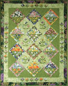 ~free pattern~ Spring Bouquet by Bev Remillard for Hoffman California Fabrics