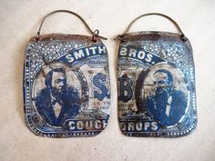 earrings out of old tin