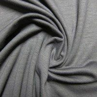 Wool/Spandex Jersey, Charcoal