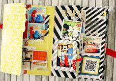capturing vacation memories in a memory file. On Heidi Swapp's blog #colorpop #heidiswapp #hsmediateam