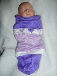 Baby Girl Purple Heart Cocoon by knittingmama82 on Etsy, $18.00