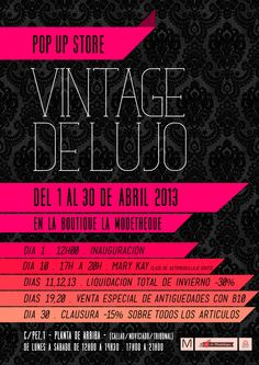 Pop Up Store Vintage de Lujo
