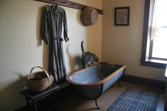 Beautiful antique bathtub...
