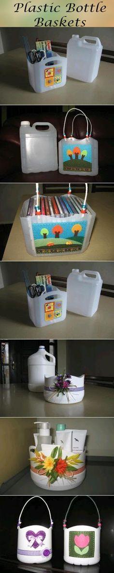 Plastic Bottle Baskets #upcycling