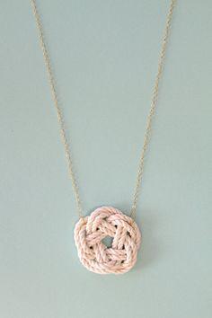 Sailor knot necklace