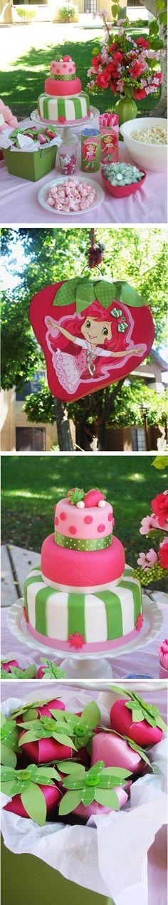 Strawberry Shortcake party.   Morgan's 3rd