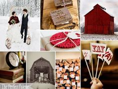 {Chilly Winter Day}: A Palette of Red, Black, Latte, Camel + White via The Perfect Palette