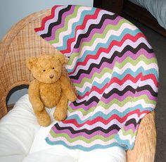 Cosine Ripple Baby Blanket... breien