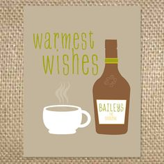 Outside - Warmest Wishes  Inside - happy holidays