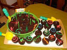Coolest Bucket of Bugs & Dirt Cake