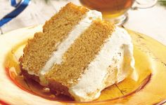 Pumpkin Angel Food Cake with Ginger-Cream Filling foods, angel food, cake mixes, pumpkins, angels, pumpkin angel, pumpkin pies, angelfood cake, food cakes