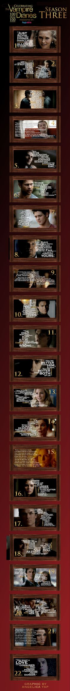 Celebrating 'The Vampire Diaries' with 100 quotes from 100 episodes: Season 3 http://sulia.com/channel/vampire-diaries/f/822fe232-e128-4b1d-8308-8ffff9d6cf08/?source=pin&action=share&btn=small&form_factor=desktop&pinner=54575851