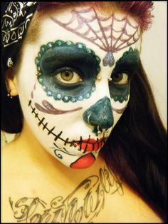 Maquillaje de dia de los muertos on pinterest exotic beauties skull art and blythe dolls - Maquillage dia de los muertos ...
