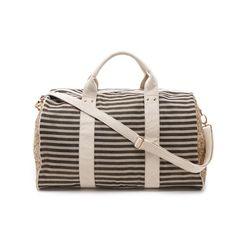 stripes and sequins weekender bag
