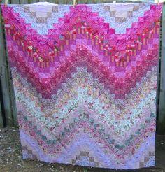 Pink bargello quilt