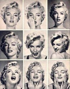 Marilyn Monroe Expression Sheet - Retronaut