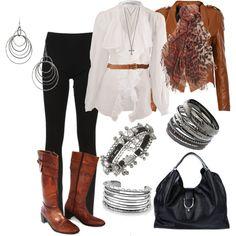 Long Sleeve Ruffle & Leather