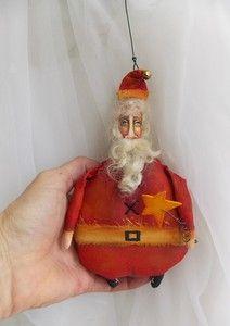 Santa ornament folk art Scherer